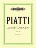 12 Capricen op. 25 Alfredo C. Piatti Partition laflutedepan.com