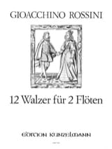 12 Walzer - 2 Flöten ROSSINI Partition laflutedepan