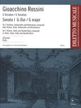 Sonate n° 1 G-Dur - Stimmen Gioacchino Rossini laflutedepan.com