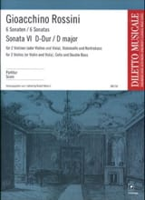 Gioacchino Rossini - Sonate n° 6 D-Dur - Partitur - Partition - di-arezzo.fr