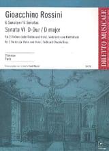 Sonate n° 6 D-Dur - Stimmen Gioacchino Rossini laflutedepan.com