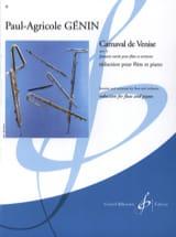 Carnaval de Venise op. 14 – Flûte piano - laflutedepan.com