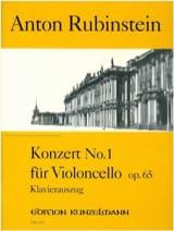 Konzert n°1 für Violoncello op. 65 Anton Rubinstein laflutedepan.com
