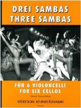 3 Sambas - 6 Cellos Werner Thomas-Mifune Partition laflutedepan.com