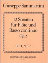 SAMMARTINI - 12 Sonaten op. 2 - Heft 1 - Flöte u. Bc - Partition - di-arezzo.fr