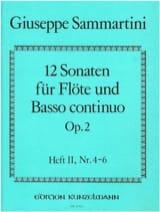 SAMMARTINI - 12 Sonaten op. 2 - Heft 2 - Flöte u. BC - Partition - di-arezzo.fr