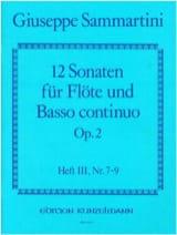 SAMMARTINI - 12 Sonaten op. 2 - Heft 3 - Flöte u. Bc - Partition - di-arezzo.fr