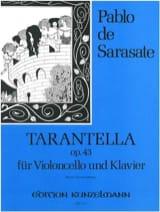 Tarantella op. 43 – Violoncelle - Pablo de Sarasate - laflutedepan.com