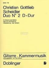 Duo en Ré Majeur Christian Gottlieb Scheidler laflutedepan.com