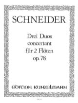 3 Duos concertants op. 78 - Flöten laflutedepan.com