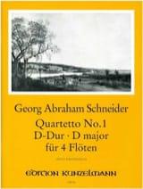 Quartetto n° 1 in D-Dur - 4 Flöten laflutedepan.com