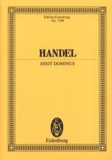 Dixit Dominus Georg F Haendel Partition laflutedepan.com