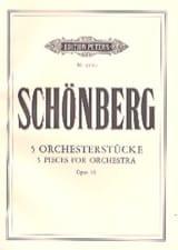 Arnold Schoenberg - 5 Orchesterstücke op. 16 – Conducteur - Partition - di-arezzo.fr