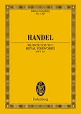 Georg Friedrich Haendel - Musique Pour les Feux D'artifices Royaux Hwv.351 - Partition - di-arezzo.fr