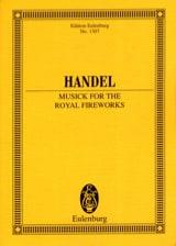HAENDEL - Music For Royal Fireworks Hwv.351 - Sheet Music - di-arezzo.com