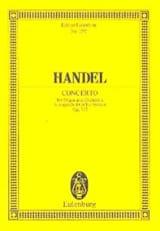 Georg F Haendel - Orgel-Konzert A-Dur, op. 7/2 A-Dur - Partition - di-arezzo.fr