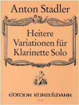 Heitere Variationen Anton Stadler Partition laflutedepan.com