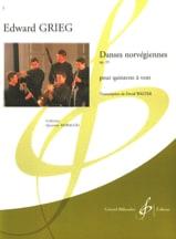 Edvard Grieg - Norwegian dances op. 35 - Wind Quintet - Sheet Music - di-arezzo.co.uk