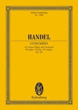 Georg Friedrich Haendel - Orgel-Konzert B-Dur, Op. 4/6 - Conducteur - Partition - di-arezzo.fr