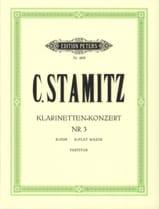 Carl Stamitz - Klarinetten-Konzert Nr. 3 B-Dur – Partitur - Partition - di-arezzo.fr