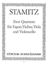 Carl Stamitz - 2 Quartette op. 19 Nr. 5-6 - Fagott Violine Viola Cello - Partition - di-arezzo.fr