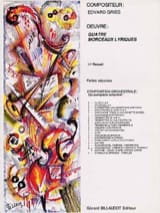Edvard Grieg - Quatre morceaux lyriques - Partition d'orchestre - Partition - di-arezzo.fr