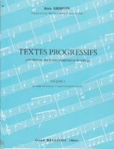 Alain Grimoin - Progressive texts - Volume 1 - Sheet Music - di-arezzo.co.uk