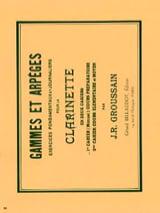 Gammes et Arpèges 1er Cahier J. R. Groussain laflutedepan.com