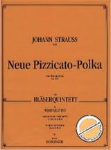 Neue Pizzicato-Polka op. 449 –Bläserquintett - Partitur + Stimmen laflutedepan.com