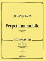 Johann (Fils) Strauss - Perpetuum mobile op. 257 -Bläserquintett - Partitur + Stimmen - Partition - di-arezzo.fr