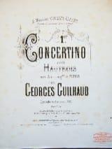 1er Concertino - Hautbois Georges Guilhaud Partition laflutedepan.com
