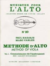 Méthode D'alto Volume 1 Hadjaje Paul / Carles Marc laflutedepan.com