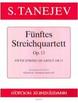 Streichquartett Nr. 5 op. 13 -Stimmen Serge Taneiev laflutedepan.com