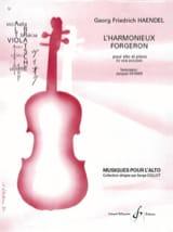 HAENDEL - L'harmonieux forgeron - Alto et piano - Partition - di-arezzo.fr