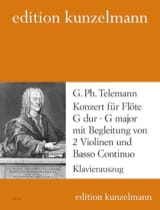 Konzert G-Dur TELEMANN Partition Flûte traversière - laflutedepan.com