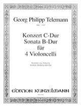 Georg Philipp Telemann - Konzert C-Dur / Sonata B-Dur – 4 Violoncelli - Partition - di-arezzo.fr
