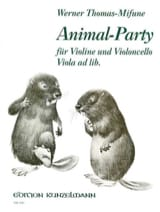 Animal-Party Werner Thomas-Mifune Partition Duos - laflutedepan.com