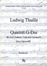 Ludwig Thuille - Quartett G-Dur -Partitur + Stimmen - Partition - di-arezzo.fr