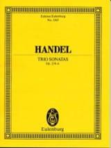 Triosonaten, op. 2/4-6 Georg F Haendel Partition laflutedepan.com