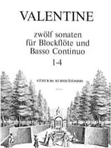 Robert Valentine - 12 Sonaten Bd. 1 Nr.1-4 - Blockflöte u. Bc - Sheet Music - di-arezzo.com