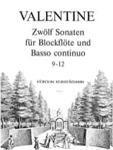 12 Sonaten 9-12 Robert Valentine Partition laflutedepan.com