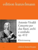 Antonio Vivaldi - Concerto op. 47 n° 2 –2 Flauti piano - Partition - di-arezzo.fr