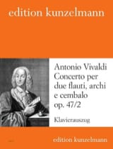 VIVALDI - Concerto op. 47 n ° 2 - 2 Flauti piano - Sheet Music - di-arezzo.com