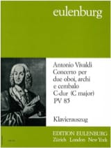 Antonio Vivaldi - Konzert 2 Oboes In C, Pv 85 - Trio 2 Hautbois-Piano - Partition - di-arezzo.fr