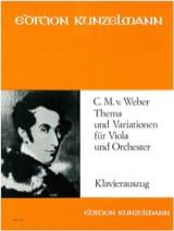 Thema und Variationen Carl Maria von Weber Partition laflutedepan.com