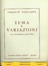 Yoritsuné Matsudaira - Tema e variazioni - Partition - di-arezzo.fr