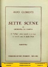 Aldo Clementi - Sette Scene - Partition - di-arezzo.fr