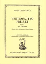 Ferdinando Carulli - 24 Preludes op. 114 for guitar - Sheet Music - di-arezzo.co.uk