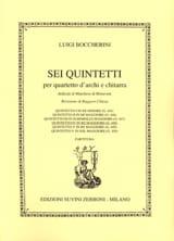 BOCCHERINI - Quintetto n° 4 in re maggiore G. 448 - Partition - di-arezzo.fr
