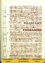 Roland Kayn - Engramme - Partition - di-arezzo.fr